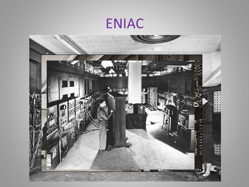 Rok 1946 Inżynierowie z Uniwersytetu Pensylwanii demonstrują ENIAC, pierwszy elektroniczny komputer ogólnego zastosowania. ENIAC był gigantyczny: 17.5