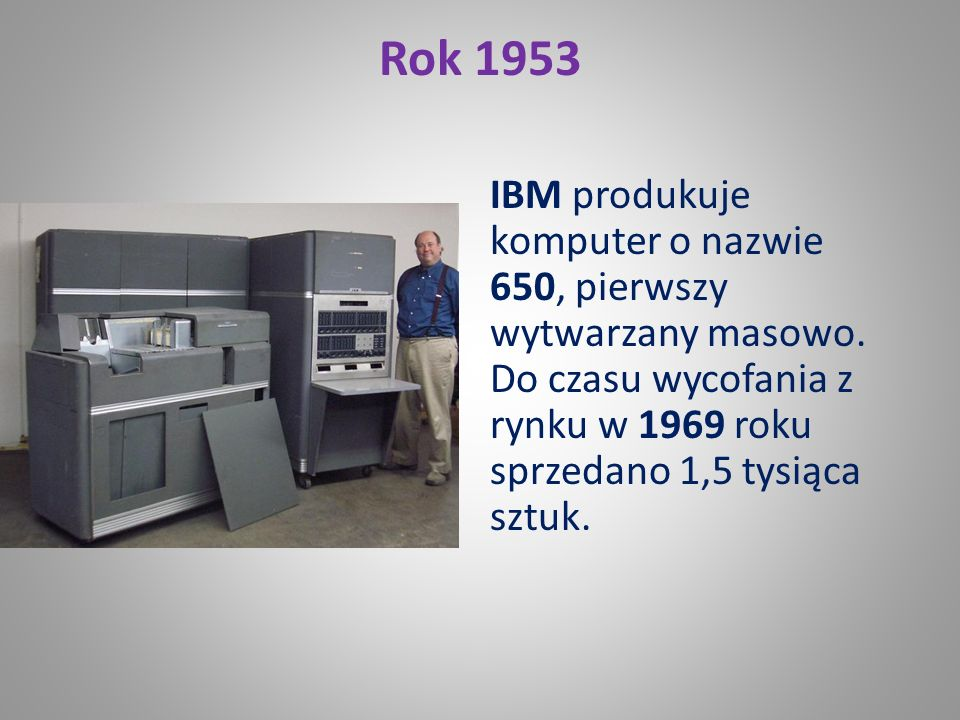 Rok 1950 Narodowe Biuro Standardów (US National Bereau of Standards) uruchamia komputer SEAC (Standards Eastern Automatic Computer). Aby zmniejszyć li