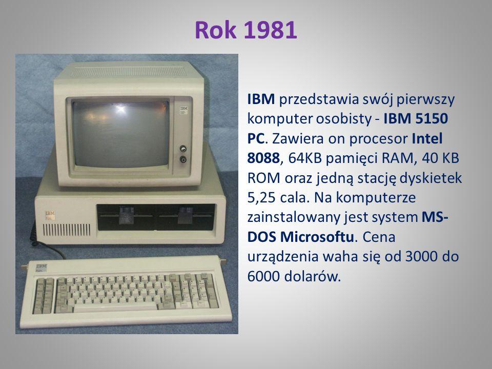Rok 1974 18 czerwca Intel przedstawia mikroprocesor 8080 Jego cena to 360 dolarów. Potrafi zaadresować 64KB pamięci.