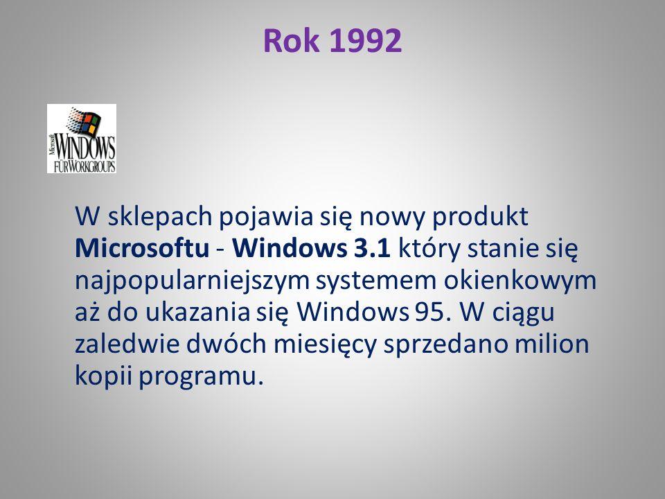 Rok 1983 IBM sprzedaje PC XT, który jako pierwszy ma wbudowany dysk twardy.