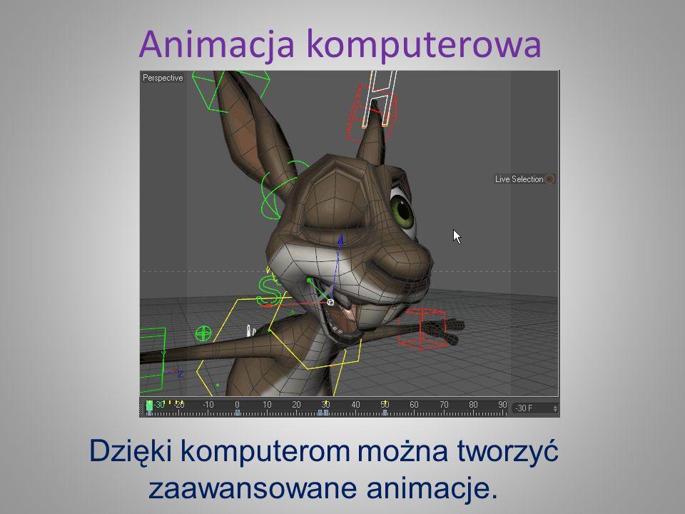 Grafika komputerowa Komputer jest nieocenionym narzędziem do tworzenia grafiki