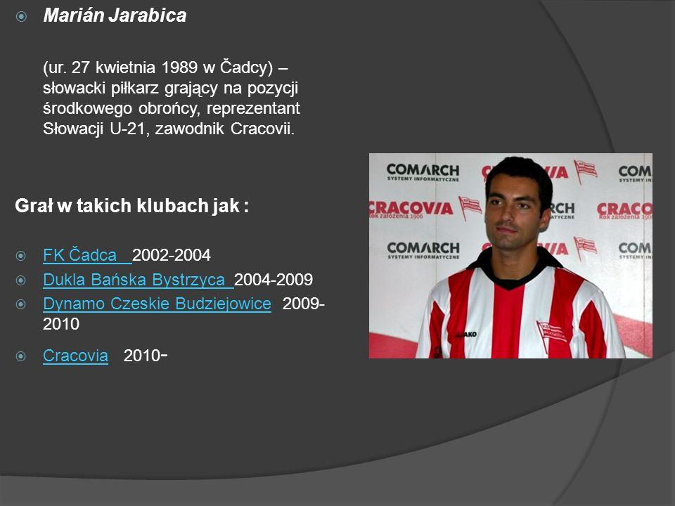 Marián Jarabica (ur. 27 kwietnia 1989 w Čadcy) – słowacki piłkarz grający na pozycji środkowego obrońcy, reprezentant Słowacji U-21, zawodnik Cracovii