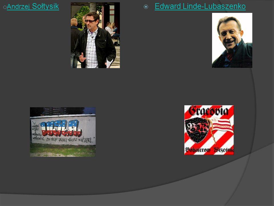 Edward Linde-Lubaszenko o Andrzej Sołtysik Andrzej Sołtysik