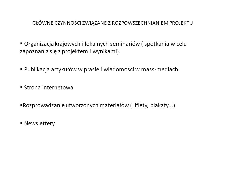 Zadania związane z rozpowszechnianiem projektu - plan rozpowszechniania A BRIEF DESCRIPTION OF THE ORGANIZATION__________________ The Municipality of Gniewkowo is situated in the northern part of central Poland in Cuyavian - Pomeranian Voivodeship, in Inowrocław county.