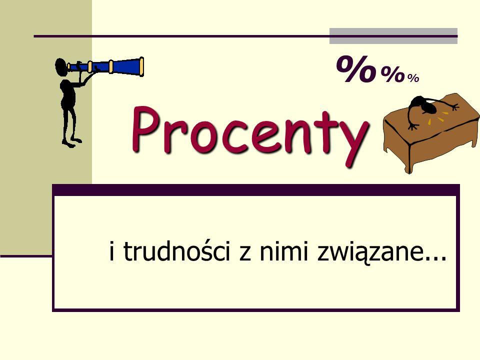 Procenty i trudności z nimi związane... %%%