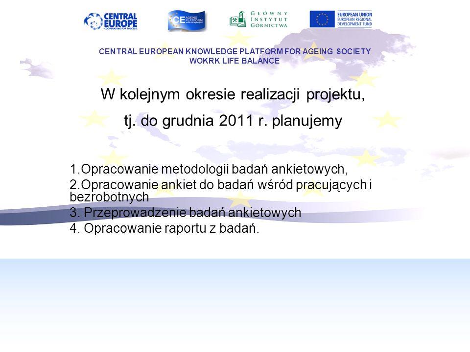W kolejnym okresie realizacji projektu, tj. do grudnia 2011 r.
