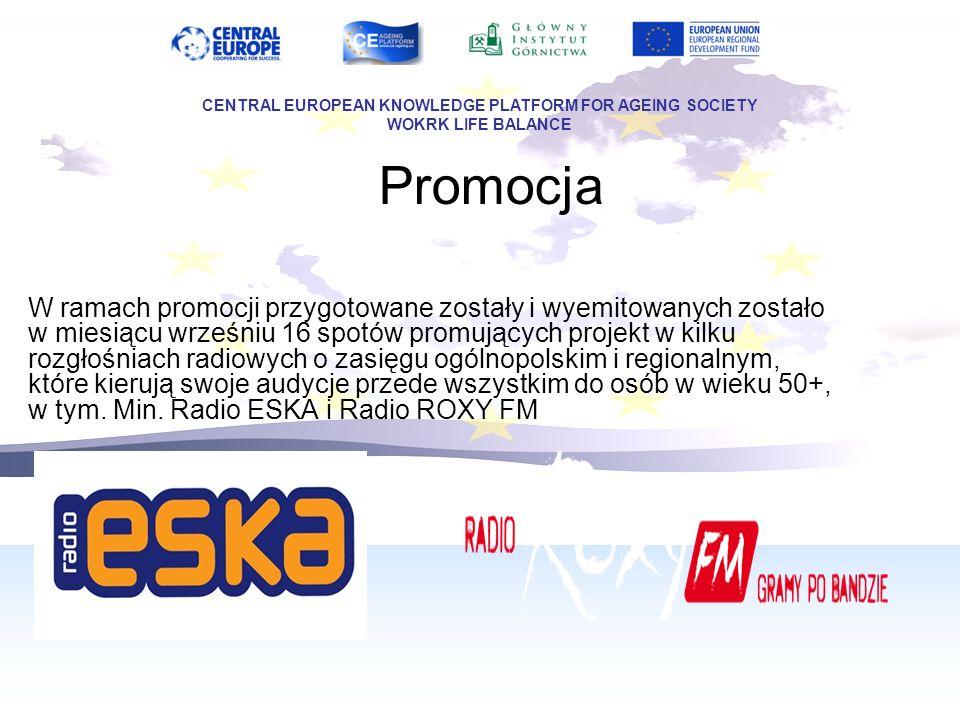 Promocja O projekcie, jego celach i Partnerstwie poinformowaliśmy Konsula Generalnego Republiki Austrii w Polsce Pana Christophera Ceske CENTRAL EUROPEAN KNOWLEDGE PLATFORM FOR AGEING SOCIETY WOKRK LIFE BALANCE