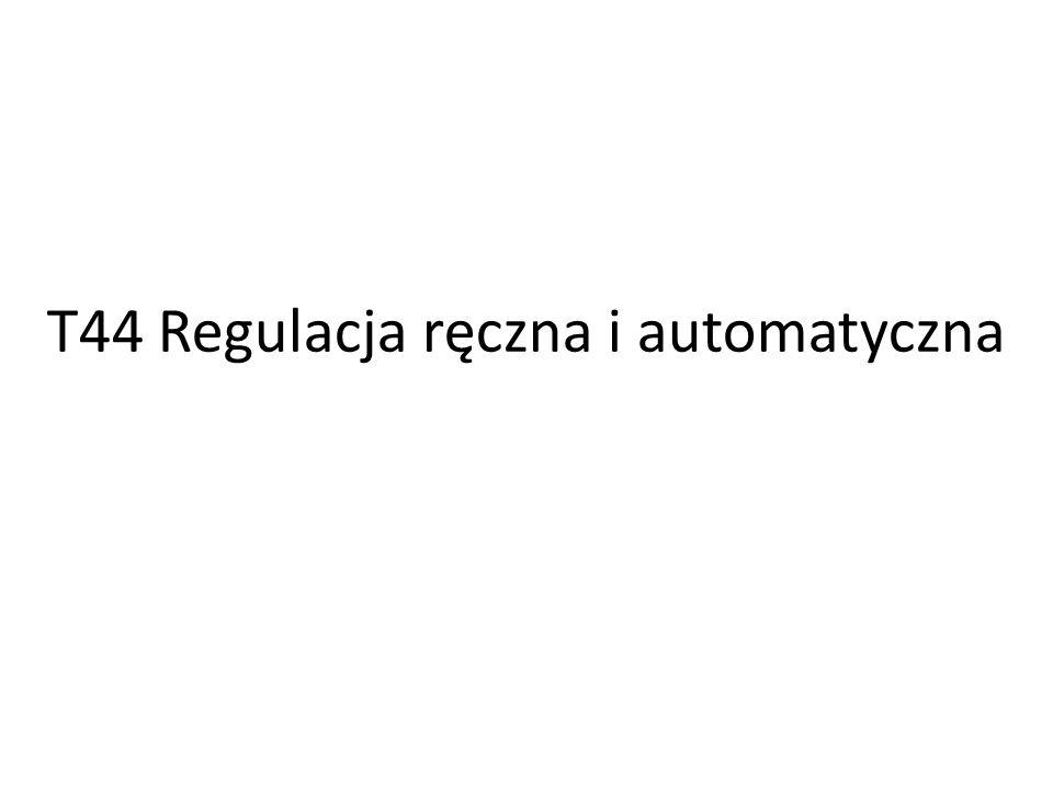 Podstawy Układ regulacji jest to zamknięty układ automatyki, posiadający ujemne sprzężenie zwrotne, którego zadaniem jest sterowanie procesem.