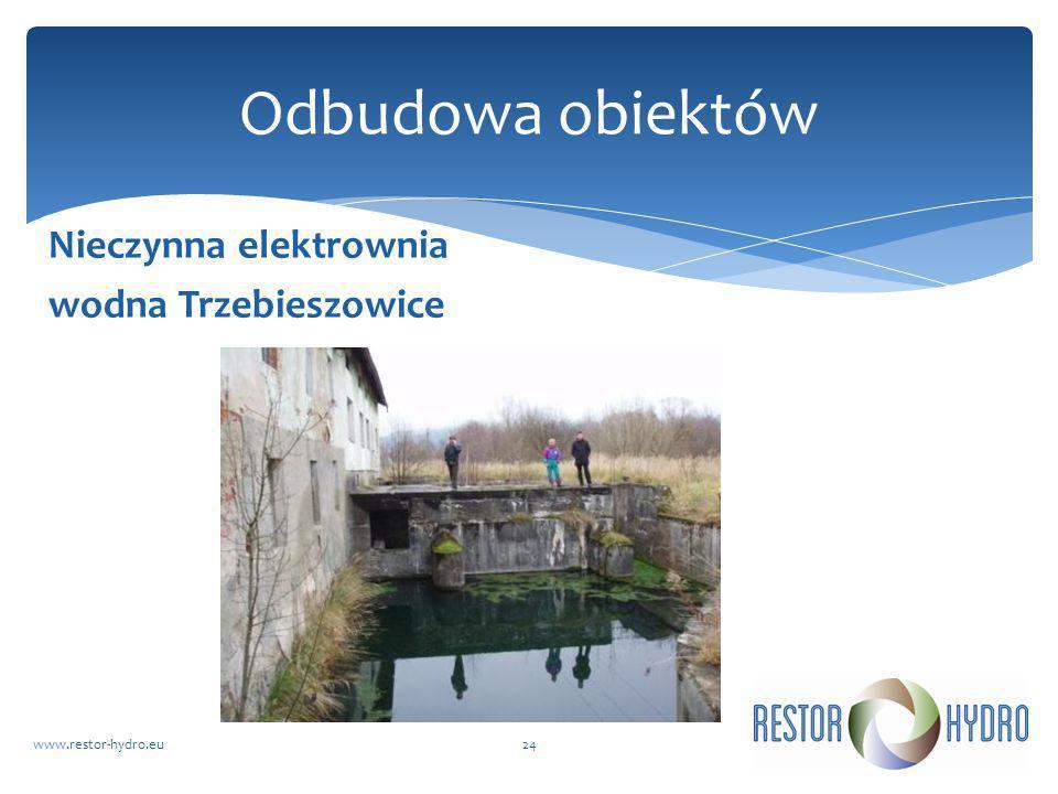 Nieczynna elektrownia wodna Trzebieszowice www.restor-hydro.eu24 Odbudowa obiektów