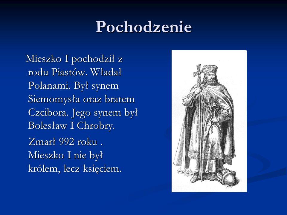 Chrześcijaństwo Mieszko I przyjął chrzest w 966 roku poprzez małżeństwo z czeską księżniczką Dobrawą.
