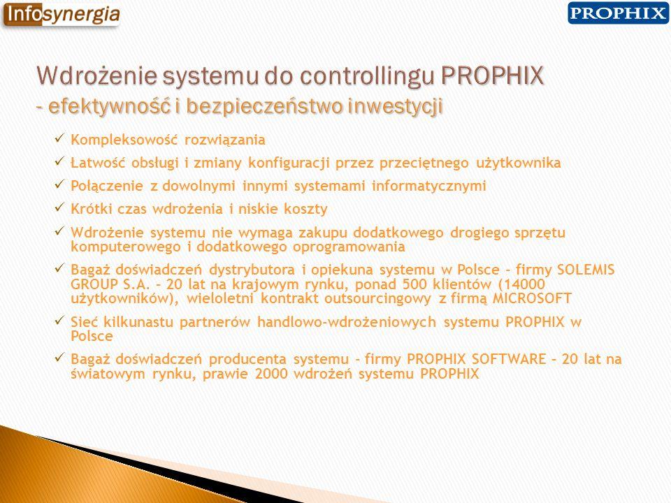 Kompleksowość rozwiązania Łatwość obsługi i zmiany konfiguracji przez przeciętnego użytkownika Połączenie z dowolnymi innymi systemami informatycznymi