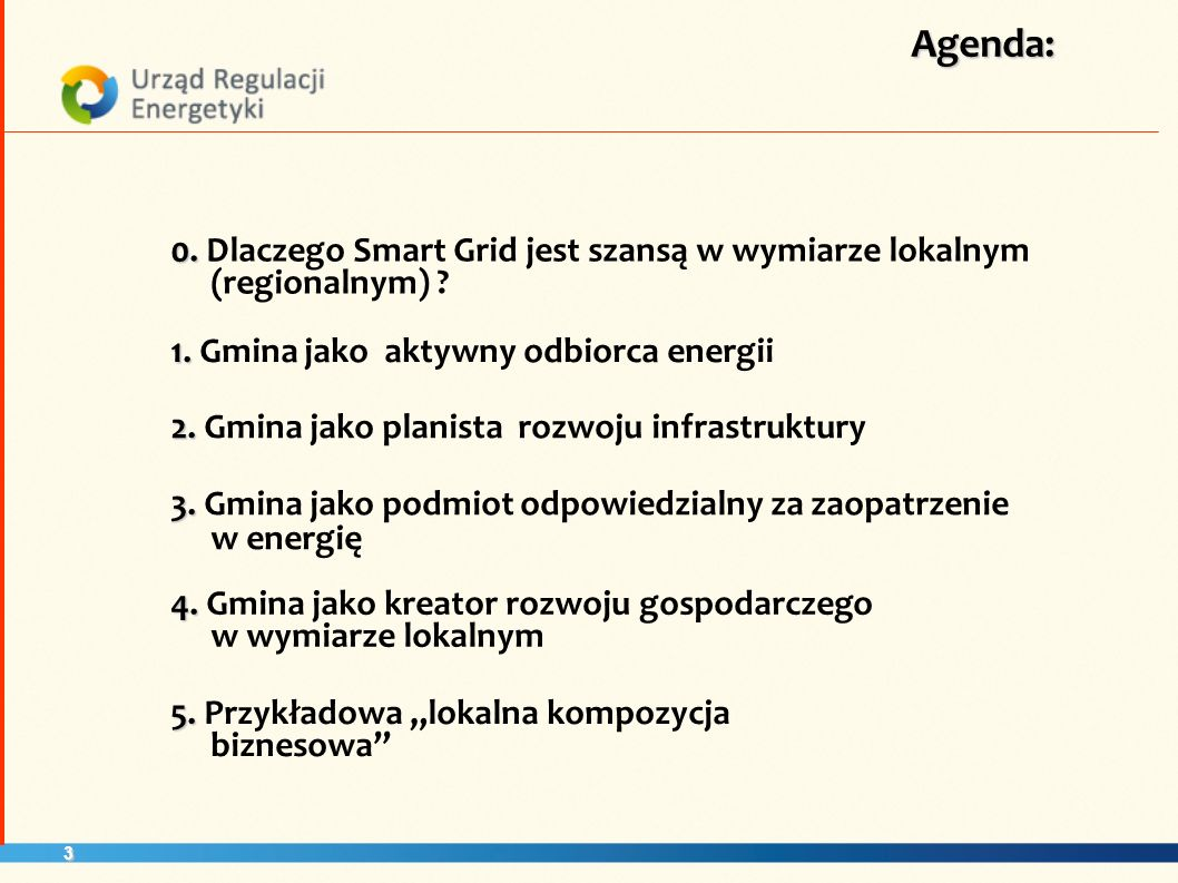 14 Smart Grid źródłem informacji o: bieżącym stanie i potrzebach rozwojowych w zakresie: 3.