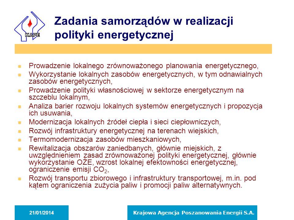 Zadania samorządów w realizacji polityki energetycznej n Prowadzenie lokalnego zrównoważonego planowania energetycznego, n Wykorzystanie lokalnych zas