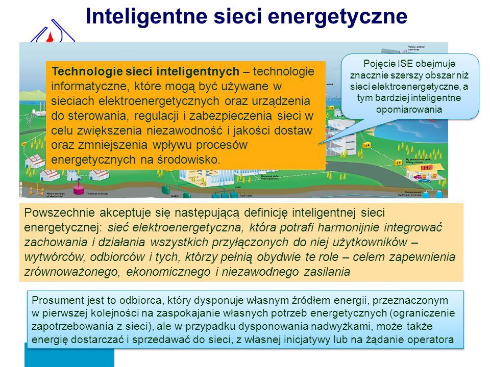 Inteligentne sieci energetyczne Powszechnie akceptuje się następującą definicję inteligentnej sieci energetycznej: sieć elektroenergetyczna, która pot