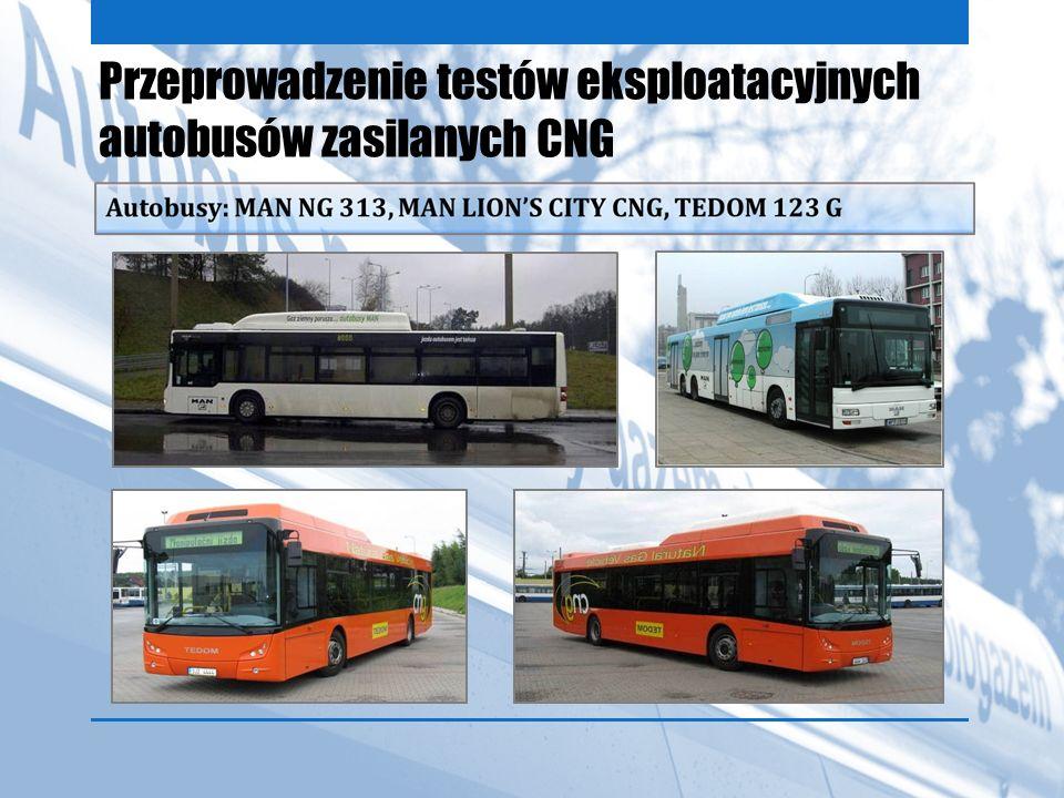 Przeprowadzenie testów eksploatacyjnych autobusów zasilanych CNG