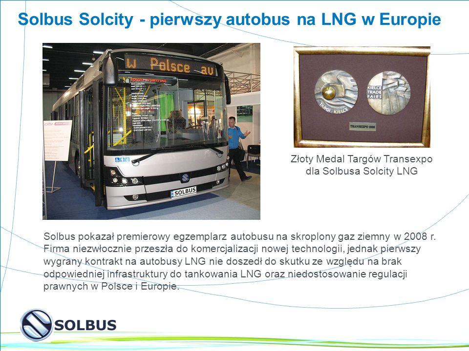 3 Solbus Solcity - pierwszy autobus na LNG w Europie Solbus pokazał premierowy egzemplarz autobusu na skroplony gaz ziemny w 2008 r.