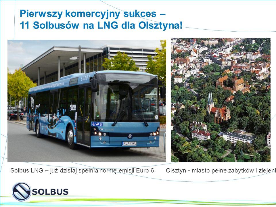 6 Pierwszy komercyjny sukces – 11 Solbusów na LNG dla Olsztyna.