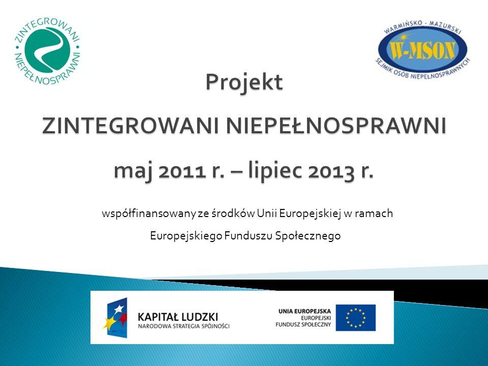 współfinansowany ze środków Unii Europejskiej w ramach Europejskiego Funduszu Społecznego