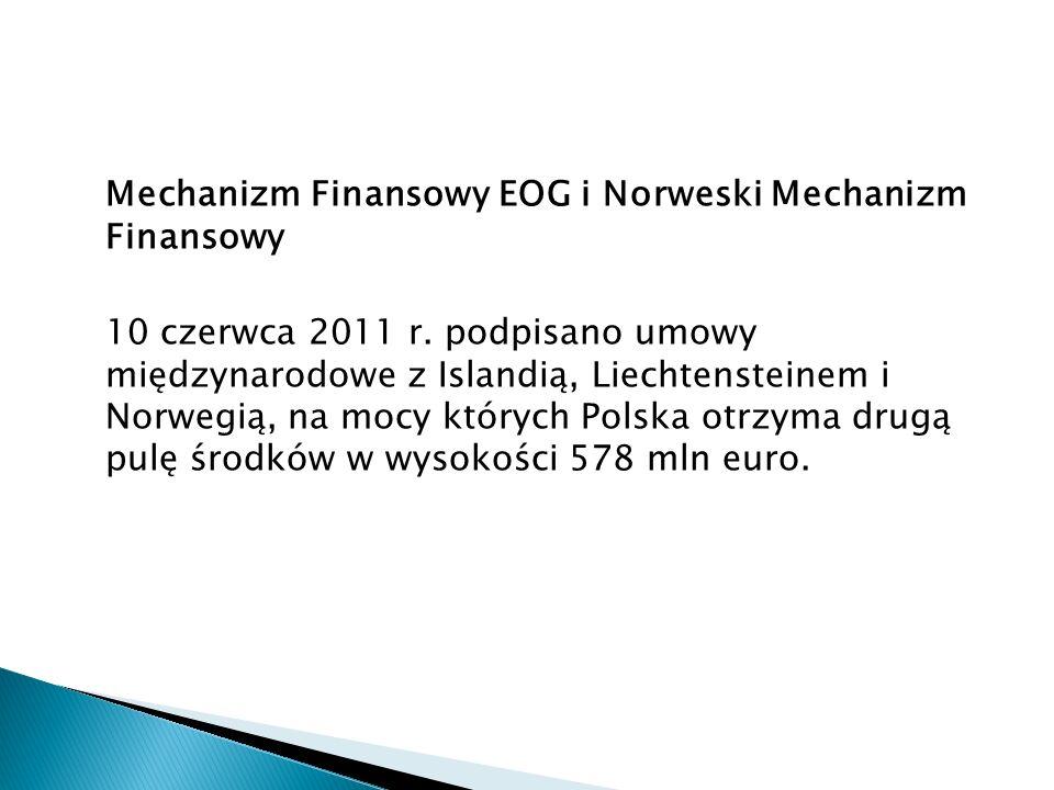 Mechanizm Finansowy EOG i Norweski Mechanizm Finansowy 10 czerwca 2011 r.