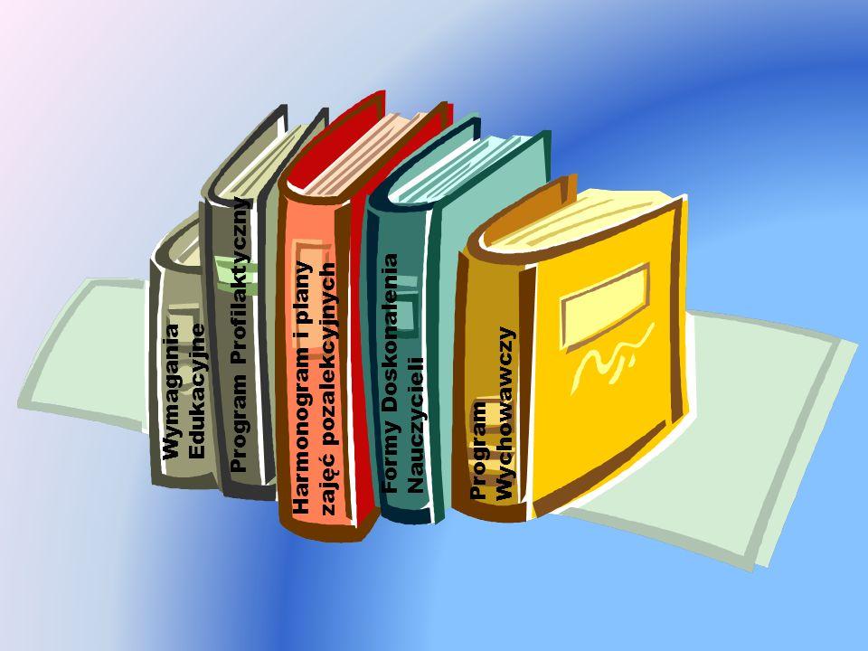 Program Wychowawczy Program Profilaktyczny Wymagania Edukacyjne Formy Doskonalenia Nauczycieli Harmonogram i plany zajęć pozalekcyjnych