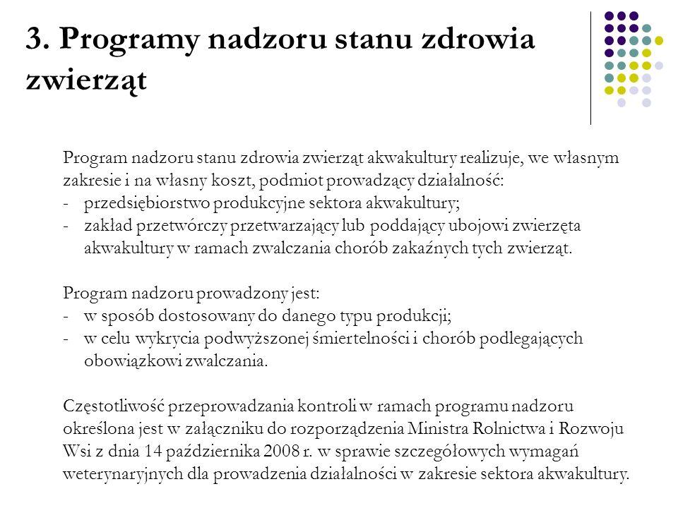 4.Programy zwalczania i nadzoru Zgodnie z art. 57 ustawy z dnia 11 marca 2004 r.