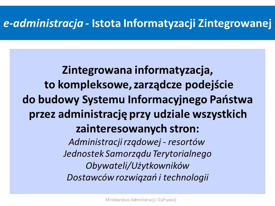 Zintegrowana informatyzacja, to kompleksowe, zarządcze podejście do budowy Systemu Informacyjnego Państwa przez administrację przy udziale wszystkich