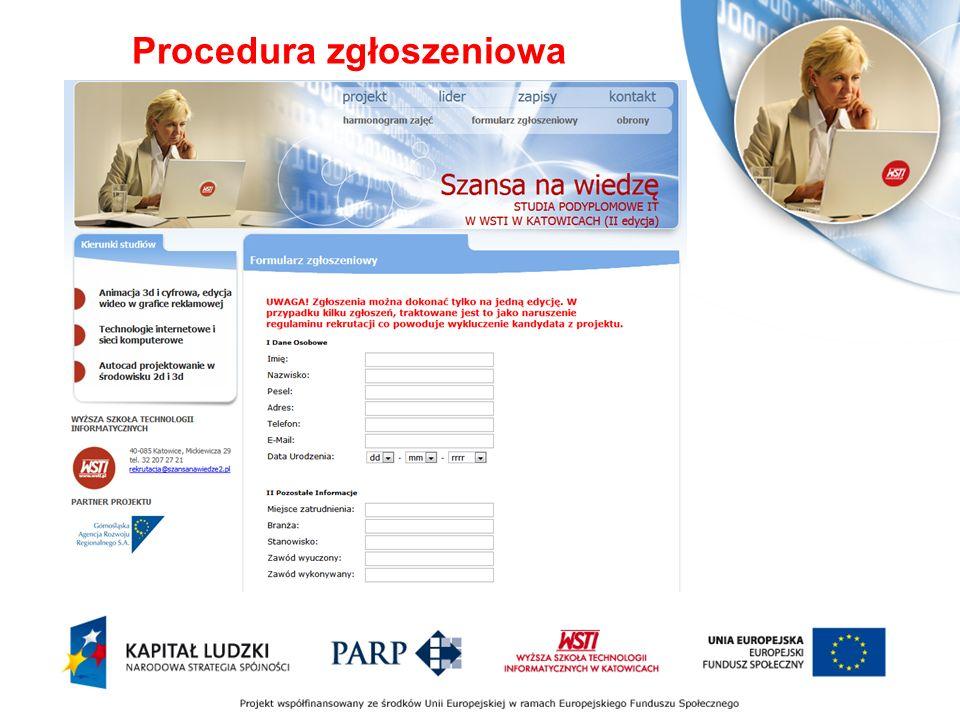 Procedura zgłoszeniowa