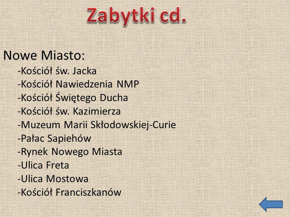 Krakowskie Przedmieście: -Zajazd Dziekanka w Warszawie -Kościół św.