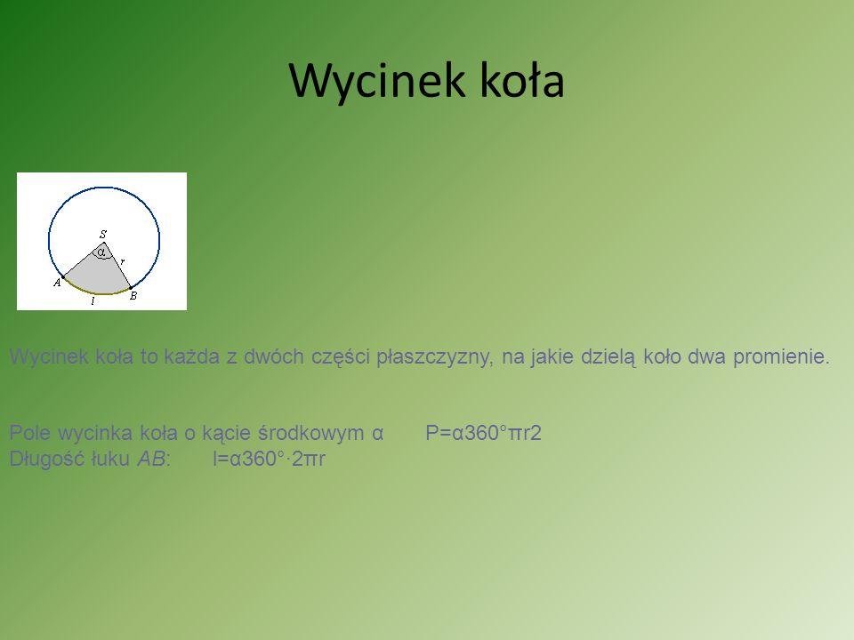 Przykłady d=16 cm r=8cm P= r²= 64