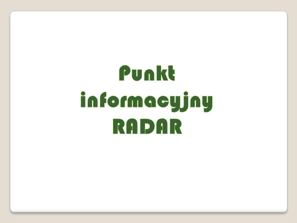 I.Punkt informacyjny Radar W okresie realizacji projektu zanotowano 137 zgłoszeń.