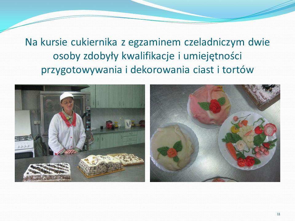 Na kursie cukiernika z egzaminem czeladniczym dwie osoby zdobyły kwalifikacje i umiejętności przygotowywania i dekorowania ciast i tortów 11