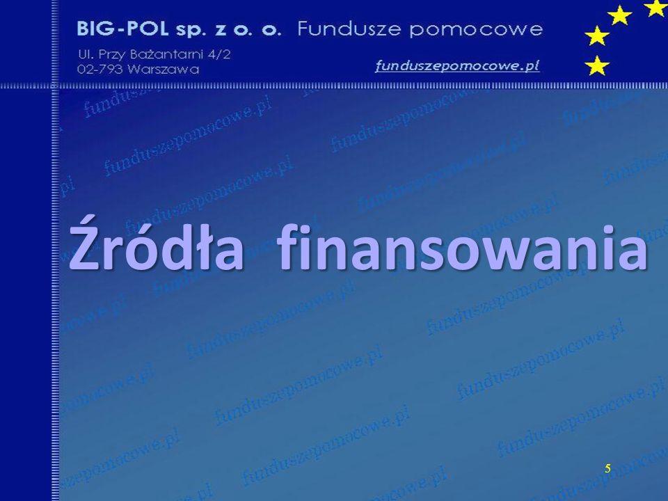 6 Środki własne Środki własne Pomoc publiczna Pomoc publiczna Dotacje - PROW Dotacje - PROW Strona trzecia Strona trzecia