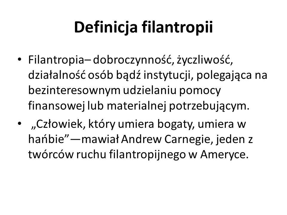 Filantropia we współczesnej Polsce.Jak pomagają najzamożniejsi Polacy.