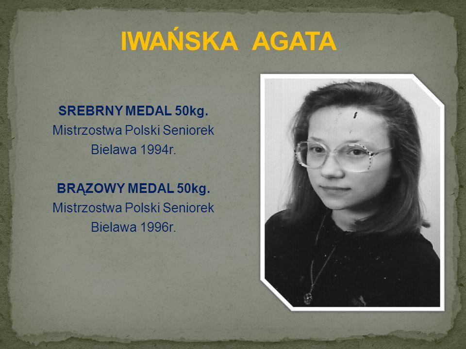SREBRNY MEDAL 50kg. Mistrzostwa Polski Seniorek Bielawa 1994r.