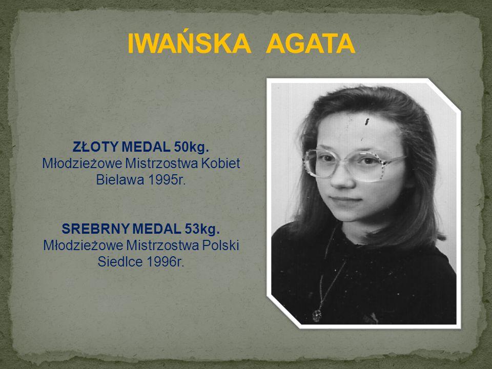 ZŁOTY MEDAL 50kg. Młodzieżowe Mistrzostwa Kobiet Bielawa 1995r.