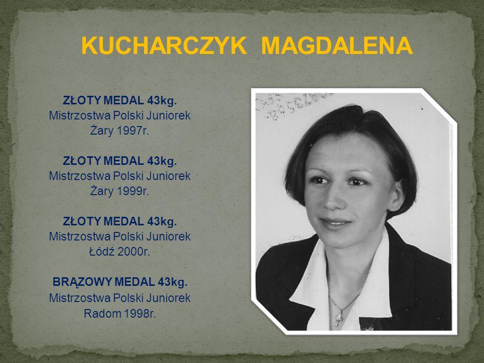 ZŁOTY MEDAL 43kg. Mistrzostwa Polski Juniorek Żary 1997r.