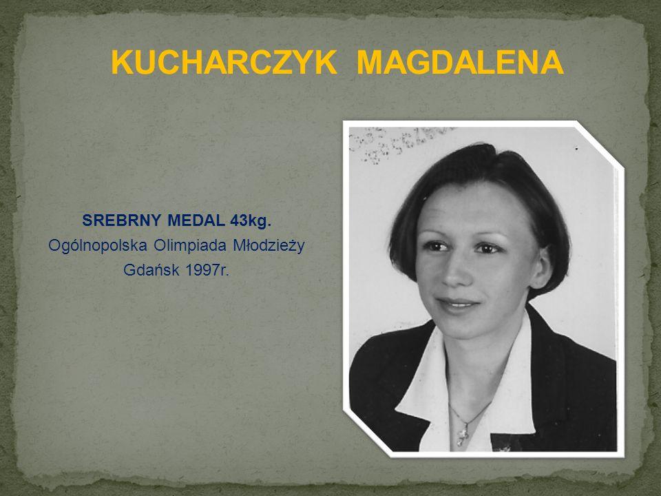 SREBRNY MEDAL 43kg. Ogólnopolska Olimpiada Młodzieży Gdańsk 1997r.