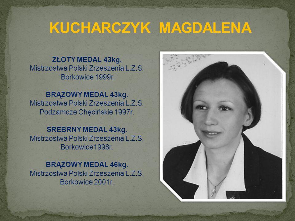 ZŁOTY MEDAL 43kg. Mistrzostwa Polski Zrzeszenia L.Z.S.