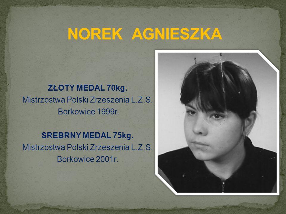 ZŁOTY MEDAL 70kg. Mistrzostwa Polski Zrzeszenia L.Z.S.