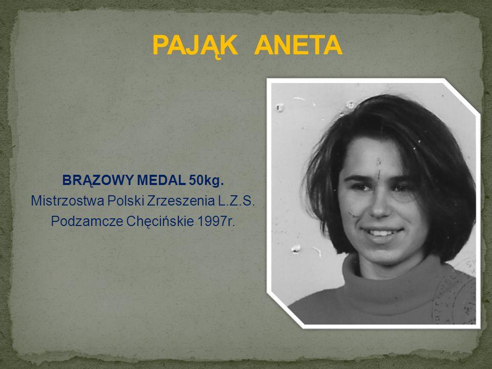 BRĄZOWY MEDAL 50kg. Mistrzostwa Polski Zrzeszenia L.Z.S. Podzamcze Chęcińskie 1997r.
