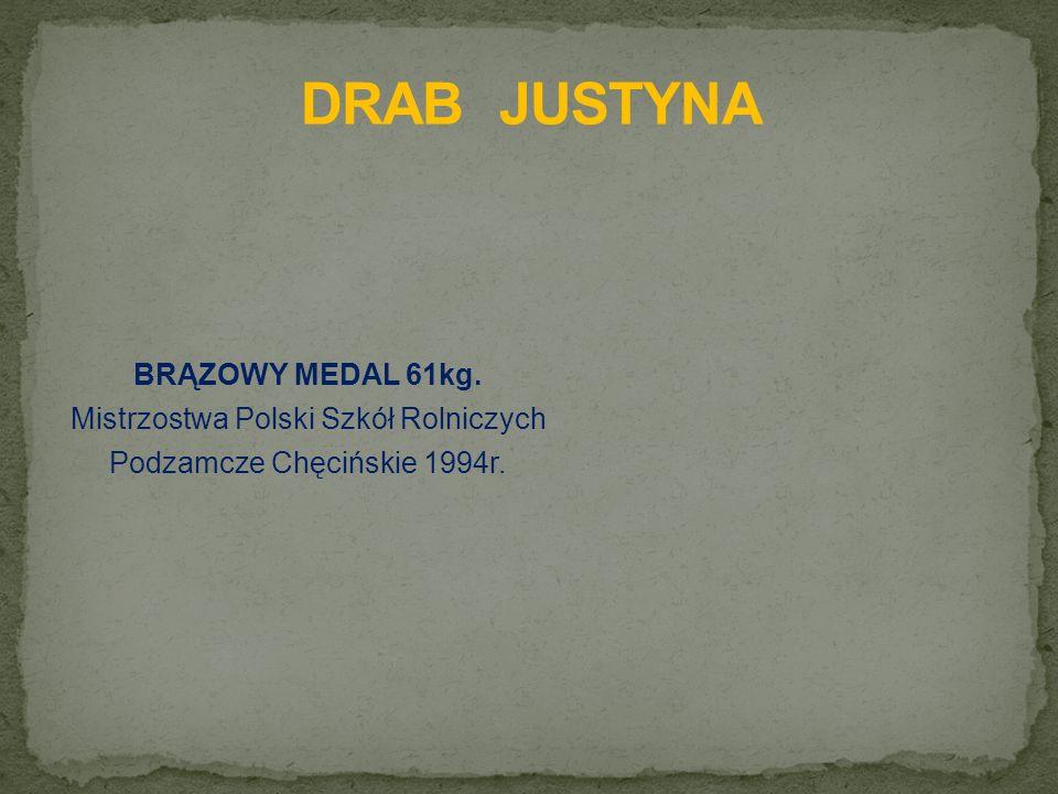 BRĄZOWY MEDAL 61kg. Mistrzostwa Polski Szkół Rolniczych Podzamcze Chęcińskie 1994r.