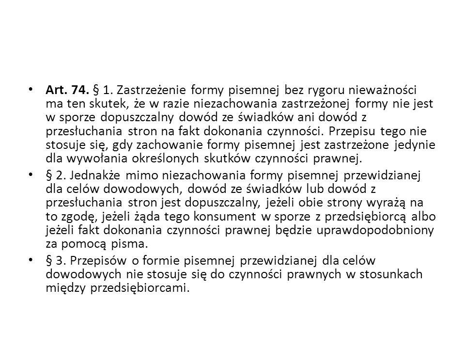 Art.74. § 1.