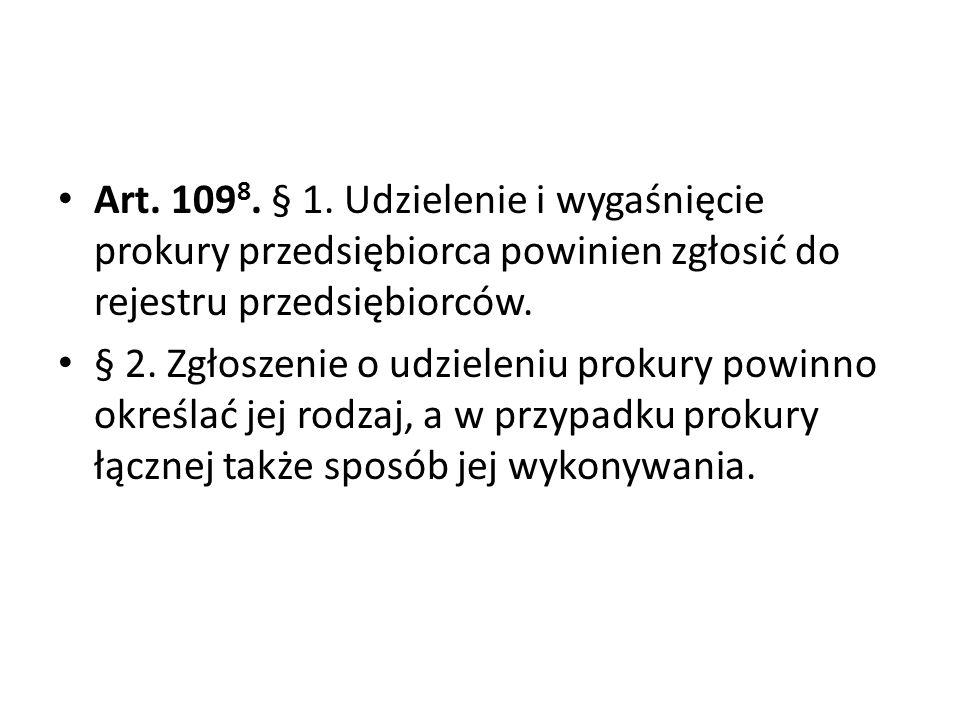 Art.109 8. § 1.