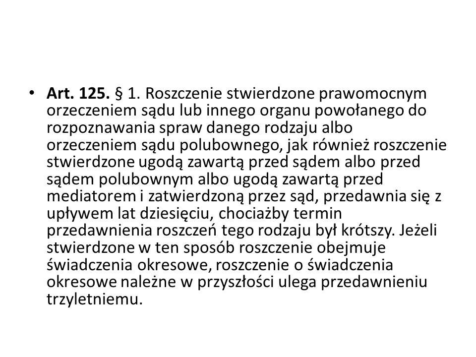 Art.125. § 1.