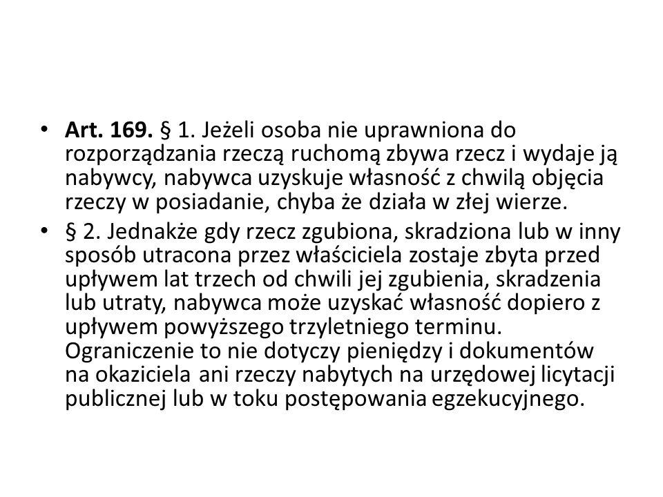 Art.169. § 1.