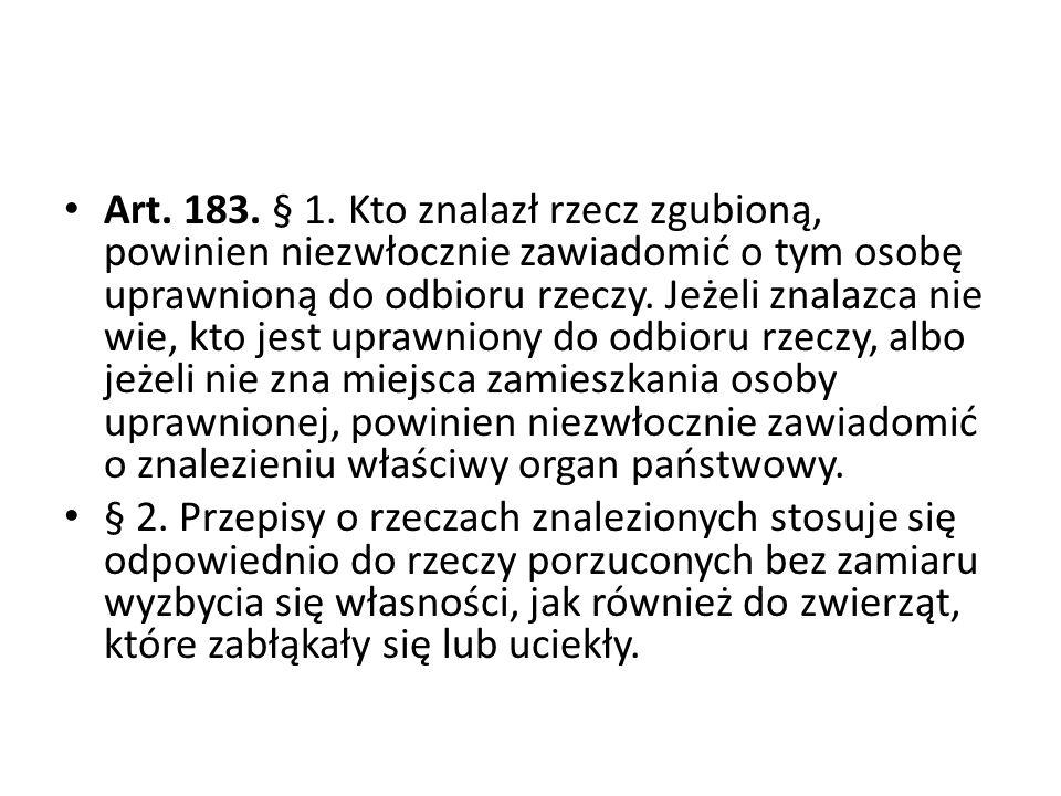 Art.183. § 1.
