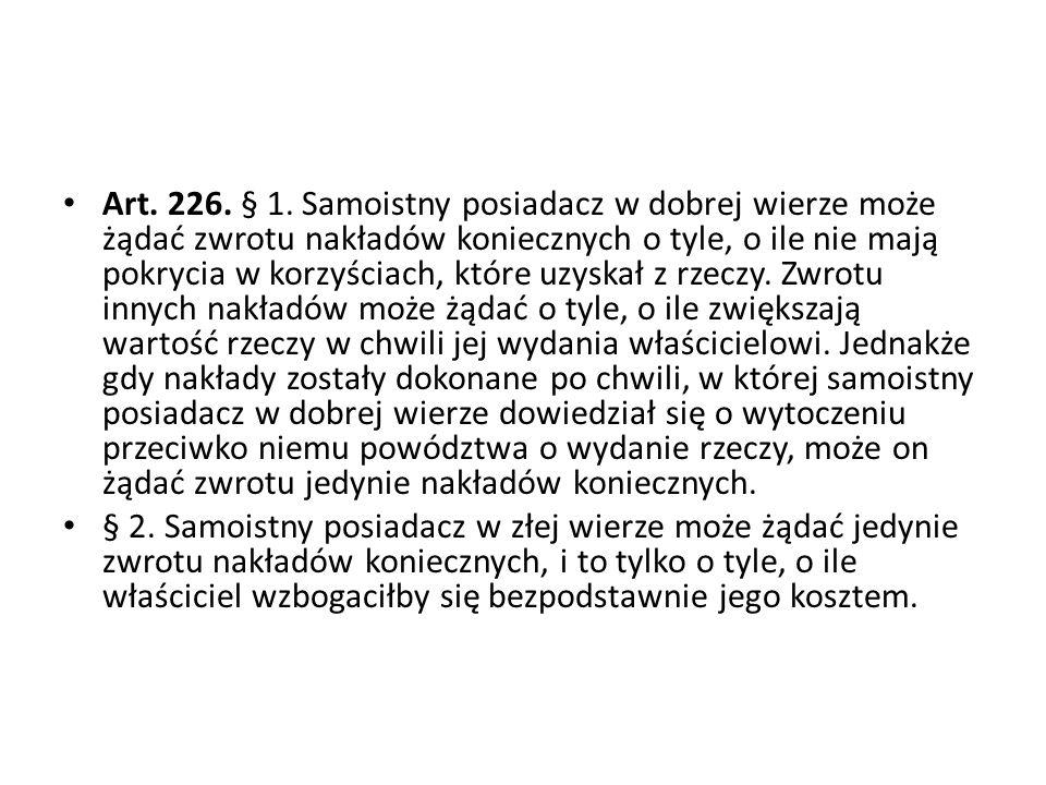 Art.226. § 1.