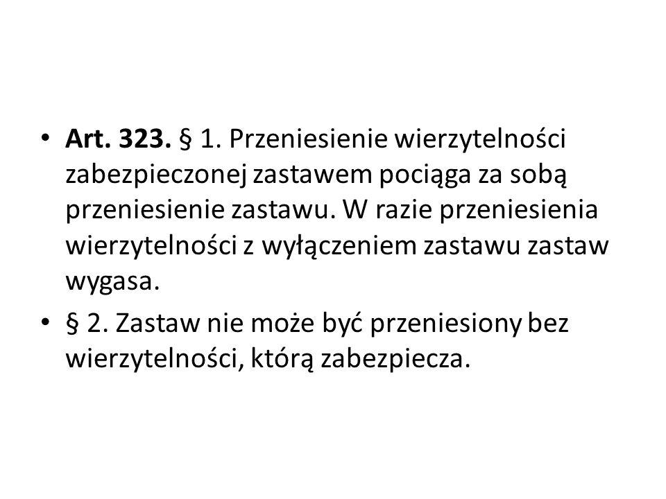 Art.323. § 1.