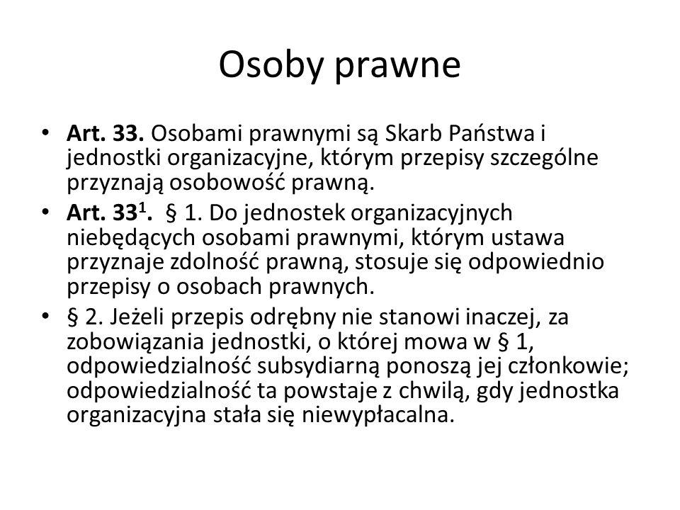 Osoby prawne Art.33.