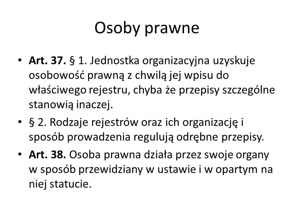 Osoby prawne Art.37. § 1.